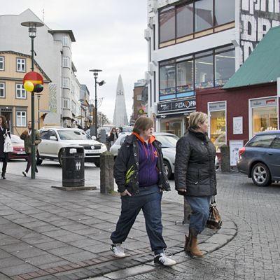 Ostoskatu Reikjavikissa.
