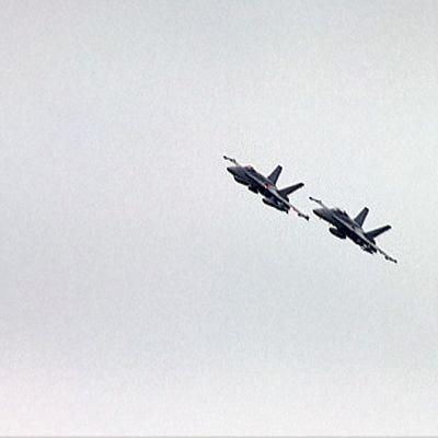 Kaksi Hornetia ilmassa