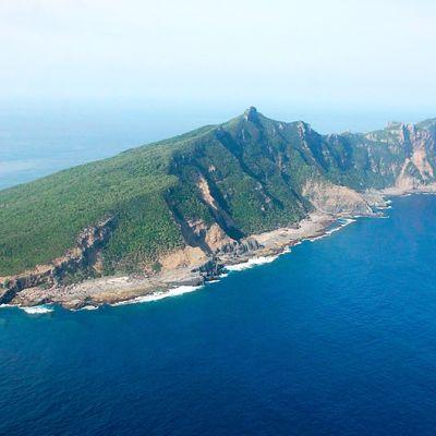 Ilmakuva Uotsurin saaresta, joka kuuluu Senkakun saariin.
