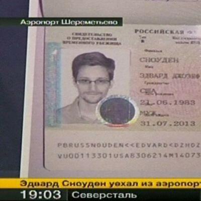 Edward Snowdenin turvapaikka-asiakirja.