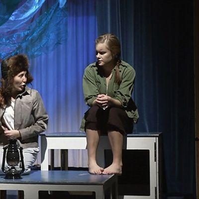 Murros nuorten teatterifestivaalin harjoitukset