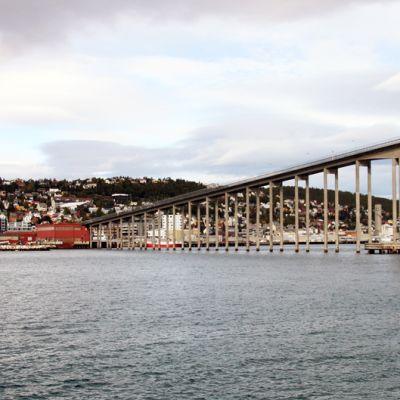 Tromssan kaupunki Pohjois-Norjassa