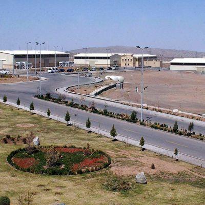 Uraaninrikastamolaitos Natanzissa Iranissa.