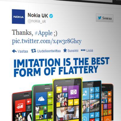 Kuva Nokia UK:n Twitter-sivuilta.