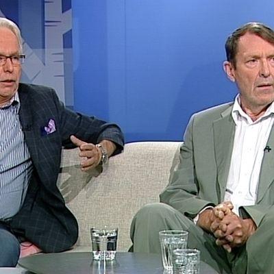 Oikeushistorian professori Jukka Kekkonen ja entinen pankkivaltuuston jäsen Esko Seppänen.