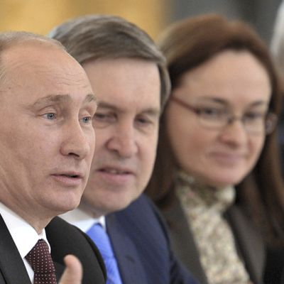 Vladimir Putin ja Juri Ushakov.