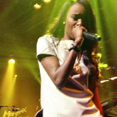 Angel Haze räppää Montreux jazz lab –lavalla.