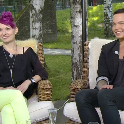 Miss Gay Leena Luuri ja Mr. Gay Aleks Vehkala.