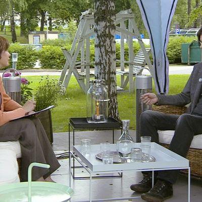 Antti Tuomainen Aamu-tv:n vieraana.