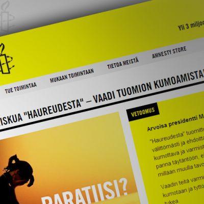 Kuva Amnestyn verkkosivuilta.