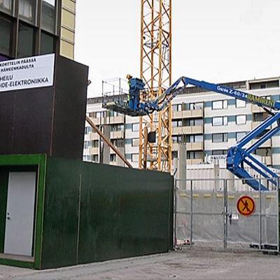 Stocmannin laajennuksen rakennustyömaa