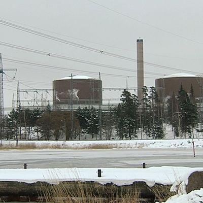 Loviisan ydinvoimala.