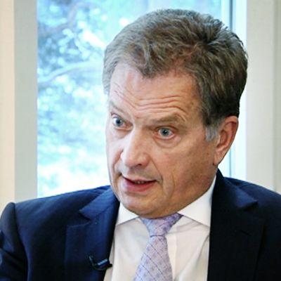 Presidentti Sauli Niinistö Yleisradion haastattelussa 20. joulukuuta 2012.