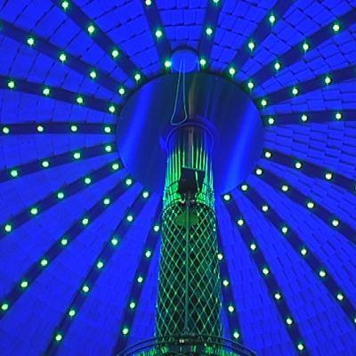 led.valoja, sininen kupoli, sauna