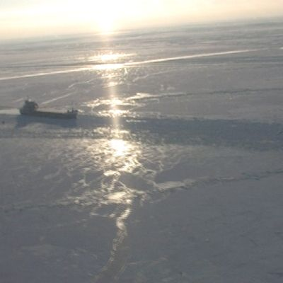 Laiva Itämerellä.