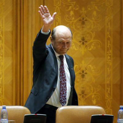 Traian Basescu 6. heinäkuuta Bukarestissa, Romaniassa