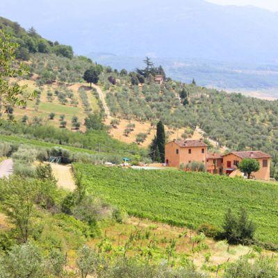 Toscanalainen maatilamatkailukohde