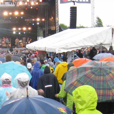 Puistoblues 2012 -juhlijoita sateessa