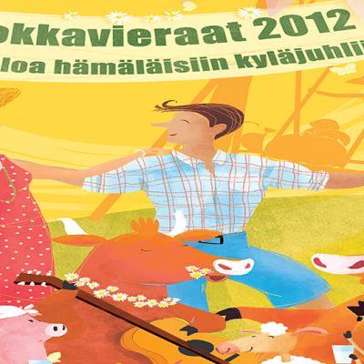 Kuokkavieraat- postikorttia voi postittaa kesällä 2012