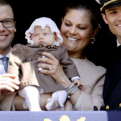 Daniel, Estelle, Victoria ja Carl Philip