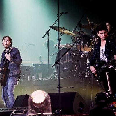 Kings of Leon esiintyy Roskilden rockfestivaaleilla.