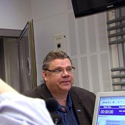 Timo Soini Ylen ykkösaamun vaalitentissä radiossa