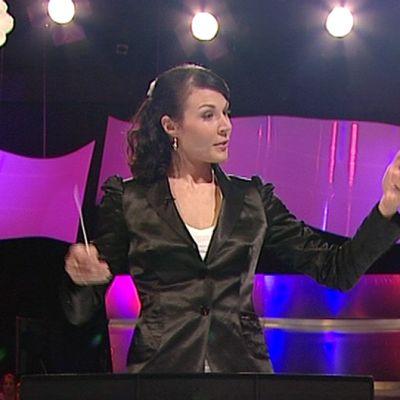 Mona-Liisa Malvalehto Maestro-ohjelmassa.