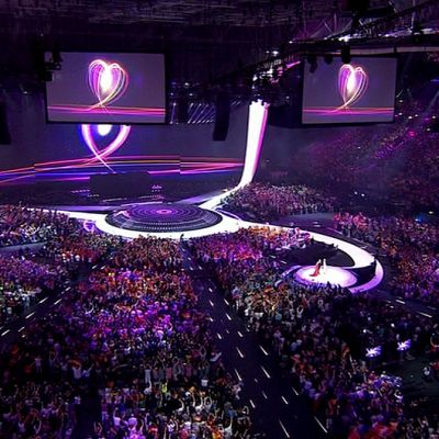 Euroviisujen lava.