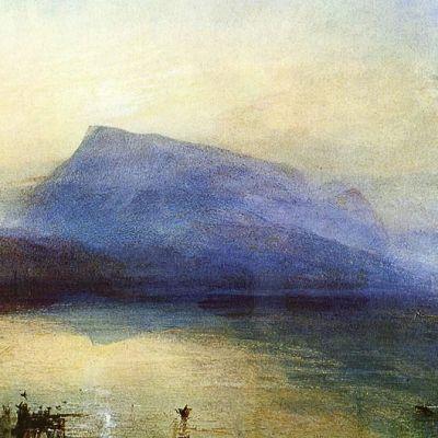 JMW Turnerin vesivärimaalus Blue Rigi