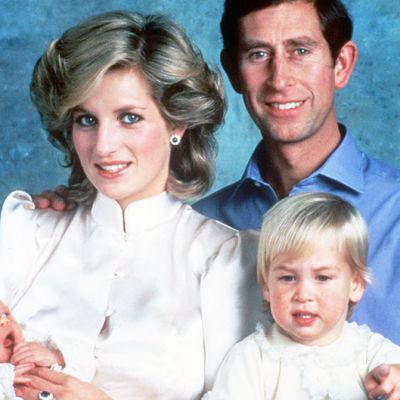 Walesin prinssi Charles, Walesin prinsessa Diana ja lapset prinssi William ja prinssi prinssi Harry virallisessa perhepotretissa vuonna 1984.