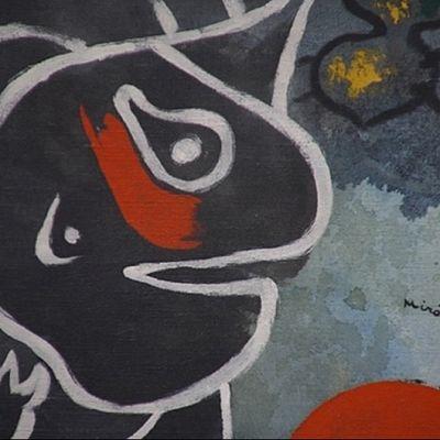 Yksityiskohta Joan Mirón maalauksesta.