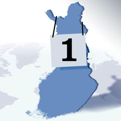 Suomi voittajan ykkönen kaulallaan