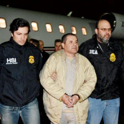 """Joaquin """"El Chapo"""" Guzmania talutetaan Yhdysvaltoihin."""