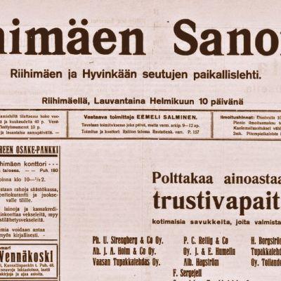 Riihimäen sanomat 10.2.1917