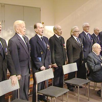 Sotaveteraanien kuoro laulaa 29. syyskuuta.