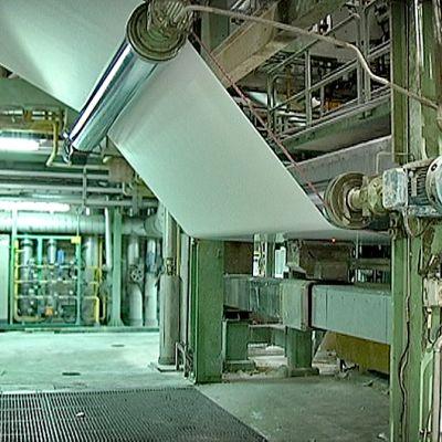 Paperikone M-Realin tehtaalla Kyröskoskella