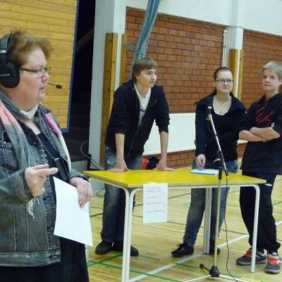 Tiiä hännän Kangasniemen lohko käynnistyi Kankaisten koululla.