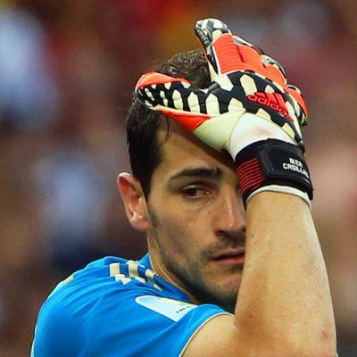 Espanjan maalivahti Iker Casillas Chile-ottelussa Brasiliassa 19.6.2014