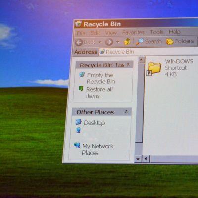 Windows XP-näyttö.