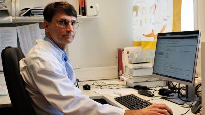 Lasten infektiotautiopin professori Ville Peltola Tyksin lasten ja nuorten klinikalla
