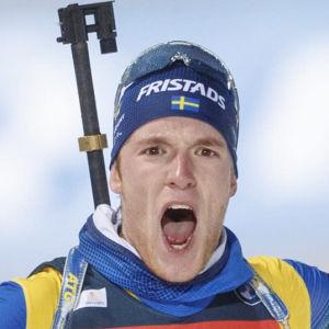 Sebastian Samuelsson jublar.