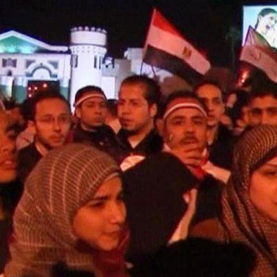 Demonstranter i Alexandria