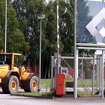 Uponor Infra Oy:n portti Vaasassa.