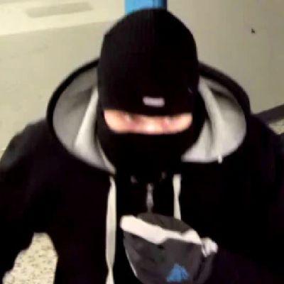 Polisens bild på rånare.