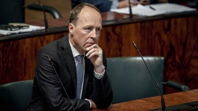 Riksdagsledamoten Jussi Halla-aho (Sannf) i plenisalen 11.9.2019.