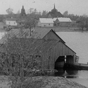 Hiittisten kirkonkylä 1969.