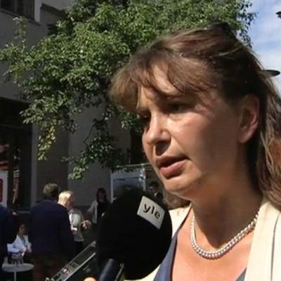 Sannfinländarnas partisekreterare Riika Slunga-Poutsalo.