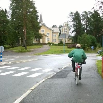 Näkymä Tuusniemen kirkonkylältä