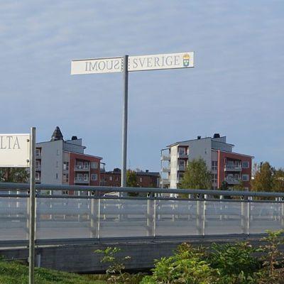 Suomen ja Ruotsin raja Torniossa.