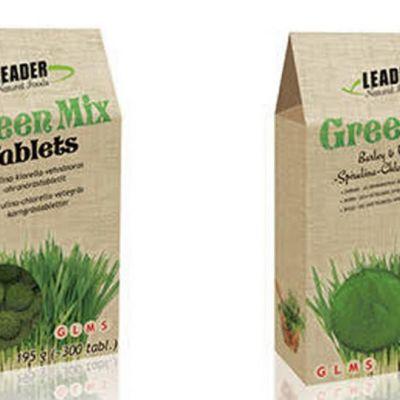 Green mix -jauhe ja Green mix Tablets -puriste.